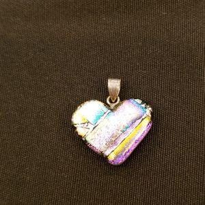 Sterling Silver Bail Heart Pendant